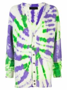 The Elder Statesman tie dye long cardigan - Multicolour