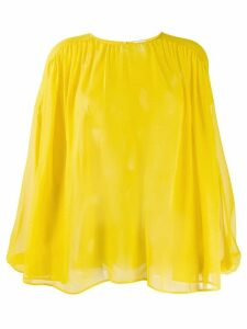 Giambattista Valli flowy chiffon blouse - Yellow
