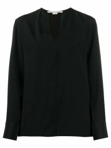 Stella McCartney silk v-neck shirt - Black
