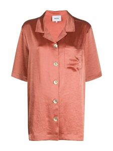 Nanushka Ella satin shirt - ORANGE