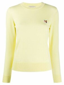Maison Kitsuné logo embroidered jumper - Yellow