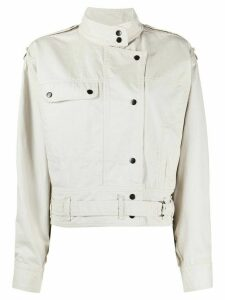 Isabel Marant Étoile denim short jacket - NEUTRALS