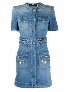 Elisabetta Franchi denim shirt dress - Blue