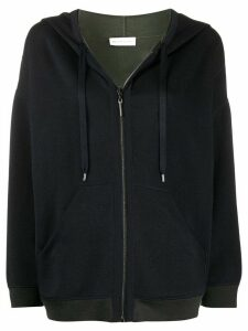 Maison Ullens contrast-trimmed zip-up hoodie - Blue