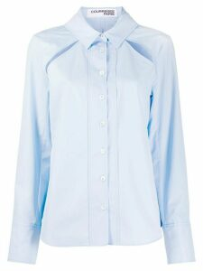 Courrèges cut-out detail shirt - Blue