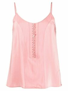 Chloé striped silk camisole - PINK