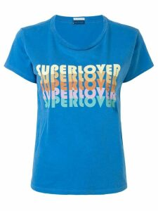 Mother 'Super Lover' print T-shirt - Blue