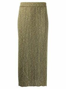 Jil Sander knitted skirt - Yellow