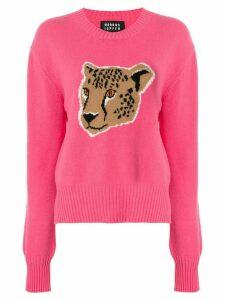 Markus Lupfer Megan Leopard Intarsia jumper - PINK