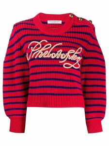 Philosophy Di Lorenzo Serafini striped logo jumper - Red