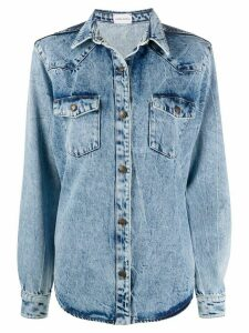 Magda Butrym denim shirt jacket - Blue