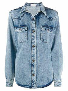 Magda Butrym denim shirt jacket - Blue
