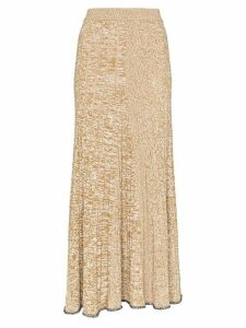 Joseph Sally ribbed-knit midi skirt - Brown