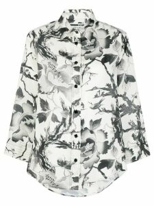 McQ Alexander McQueen floral print blouse - White
