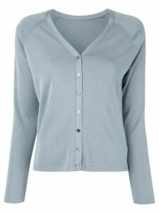Des Prés raglan-sleeves silk cardigan - Blue