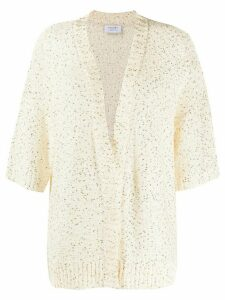 Snobby Sheep sequin embroidered cardigan - White