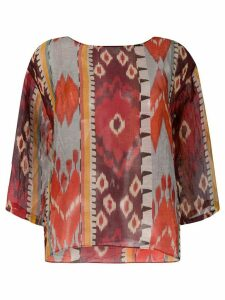 Forte Forte abstract print blouse - Red