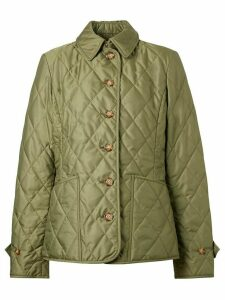 Burberry diamond quilted thermoregulated jacket - Green