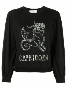 Alberta Ferretti Capricorn embellished long sleeve top - Black