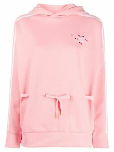 adidas hearts embroidered hoodie - PINK