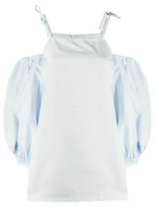 Jil Sander cold shoulder blouse - Blue