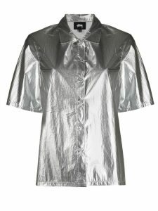 Stussy metallized short-sleeved shirt - SILVER