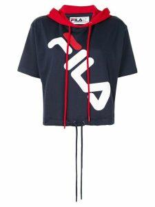 Fila logo-print short-sleeve hoodie - Blue