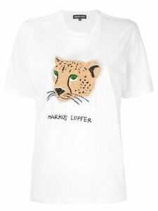 Markus Lupfer Alex Sequin Cheetah T-shirt - White