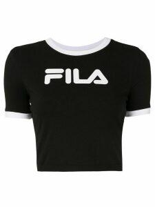 Fila cropped logo-print T-shirt - Black