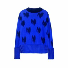 Jamie Wei Huang Jacquard Cashmere Jumper Blue