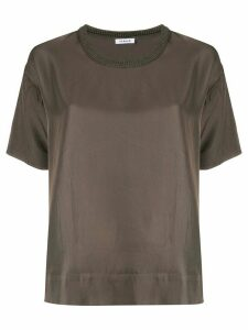 P.A.R.O.S.H. ribbed neck blouse - Green