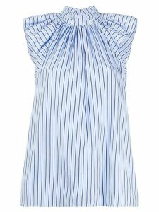Victoria Victoria Beckham striped print shirt - Blue
