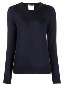 Jil Sander slim fit knitted top - Blue