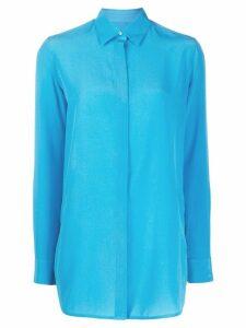 Golden Goose oversized silk shirt - Blue