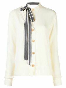 Monse asymmetric cardigan - White