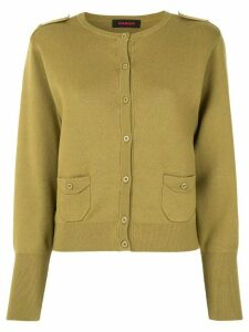 Caban shoulder tap knit cardigan - Green