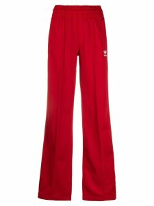 adidas side striped track pants - Red