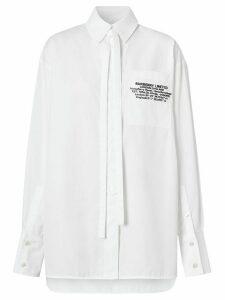 Burberry location print oversized shirt - White