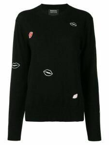 Markus Lupfer lips print jumper - Black