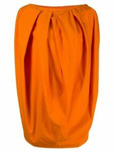 Marni pleated balloon blouse - ORANGE