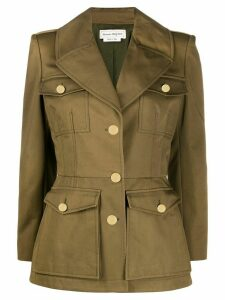 Alexander McQueen fitted military jacket - Green