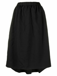 Comme Des Garçons Comme Des Garçons full midi skirt - BLACK