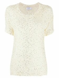 Snobby Sheep sequin embroidered top - White