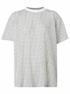 Burberry monogram pattern T-shirt - White