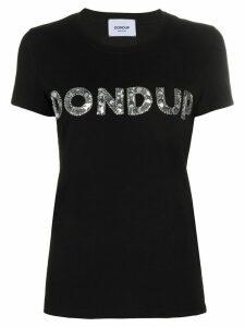 Dondup crew neck embellished-logo T-shirt - Black