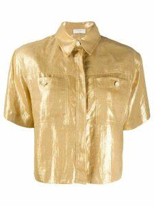 Sandro Paris Noy linen boxy fit shirt - Yellow