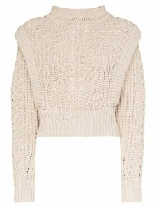 Isabel Marant Prune crochet knit sweater - NEUTRALS