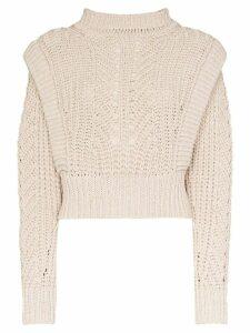 Isabel Marant Prune crochet knit sweater - NEUTRALS