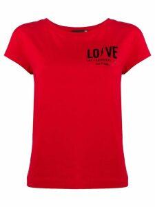 Love Moschino chest logo T-shirt - Red