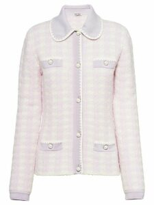 Miu Miu bouclé wool cardigan - PURPLE